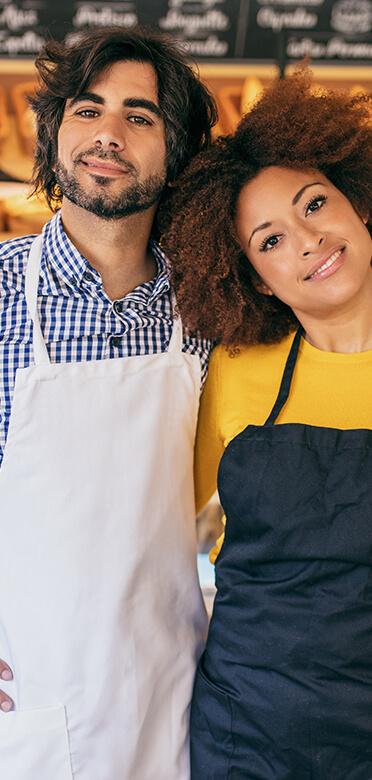 Couple photo with apron