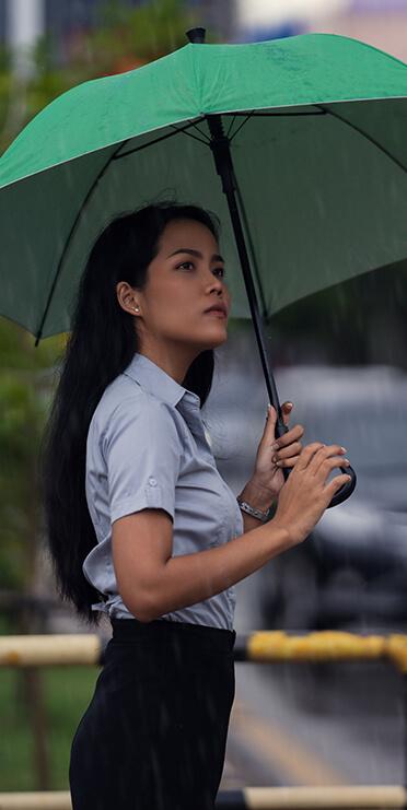 Person under an umbrella