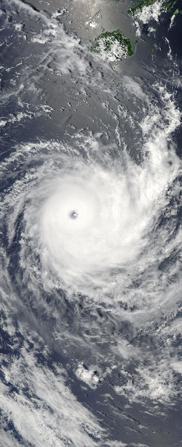 Hurricane vertical banner